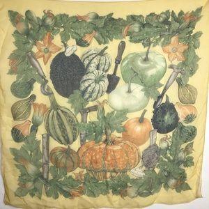 Hermès Silk Scarf Pumpkins & Gourds